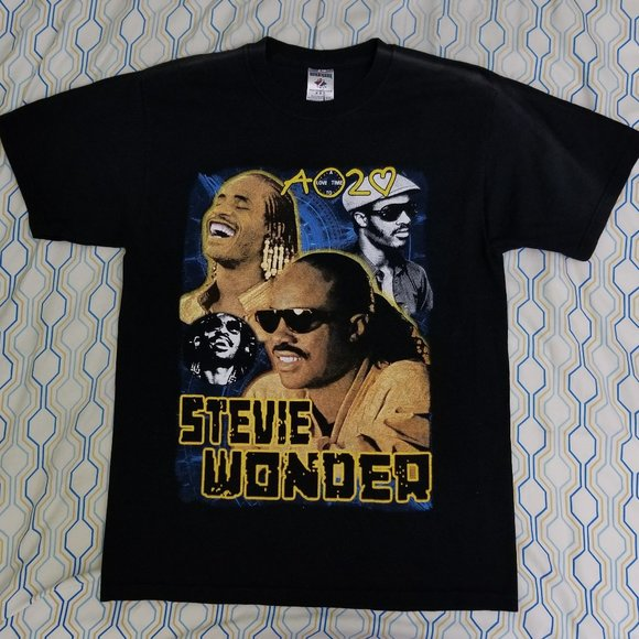 Vintage 2008 Stevie Wonder Tour T Shirt Rap Tee